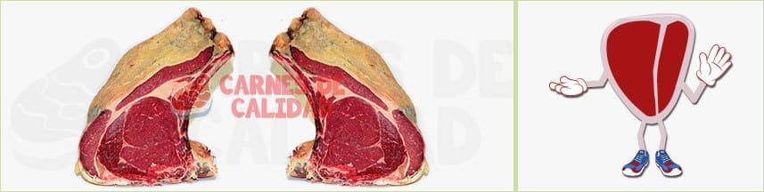 Carne roja chuletón