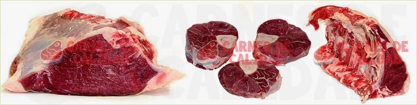 Tipos carne de ternera